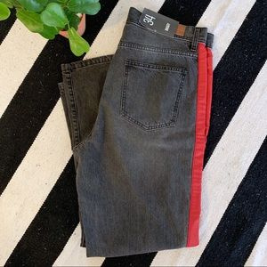 BDG Black and Red Jeans